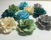 Handmade Mini Paper Flowers Oceanic Assortment