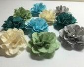 Handmade Mini Paper Flowers Oceanic Assortment