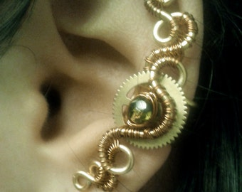 Steampunk Copper Ear Cuff