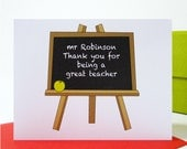 Personalised Teacher Thank You Card - Personalized Teacher Thank You Card - Thank You Card - Teacher Card