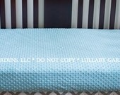 Turquoise (Topaz) Fitted Minky Crib Sheet or choice of other colors