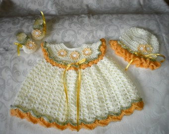 Summer Daisies 3 Piece Set for 3 to 5 Months