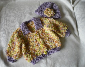 Knit Sprinkles 2 Piece Sweater Set for 12 Months