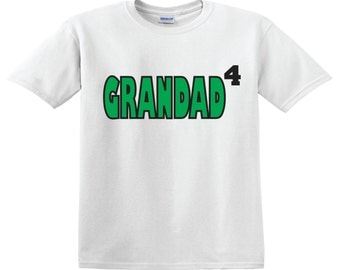Personalized Grandad shirt w number of grandkids as the superscript tee great gift for Fathers Day