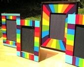 Reserved for Jenny Gray  -  Rainbow Frame Set