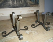 Pair of Iron Stands for Vintage Sugar Molds, Rustic, Storage, Organizer, Wedding