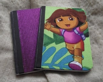 Girls Mini Notebook Set Mini journal fabric Jotter prayer journal Travel Gift Pocket Jotter Teens party Favor Dora Explorer stocking stuffer