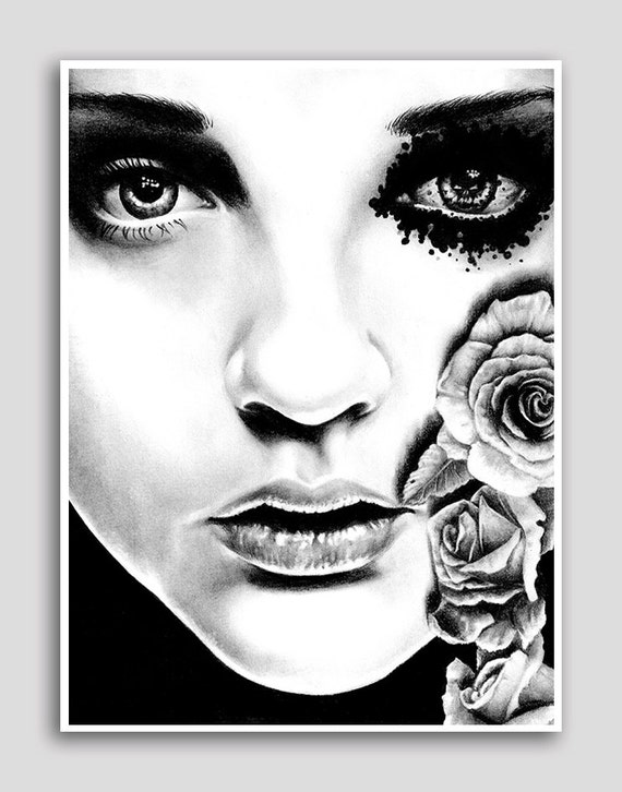 Rose of the Devils Garden 18x24 in Art Print By Carissa Rose