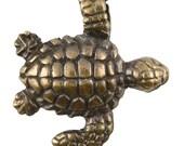Casting Pendant-20x22mm Swim Turtle-Antique Bronze-Quantity 1