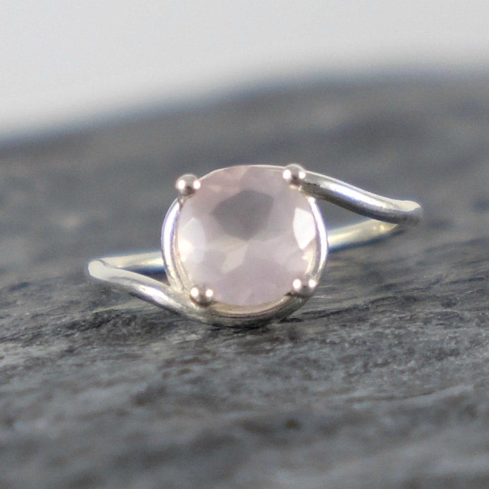 Rose Quartz Engagement Ring Rose Quartz Ring Love Gemstone. Contemporary Beads. Slide Pendant. Delica Beads. Nondiamond Engagement Rings