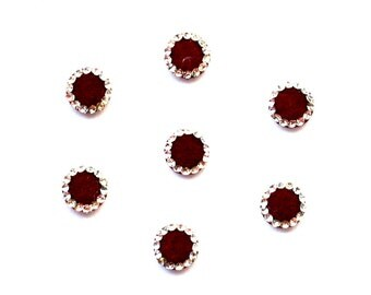 Maroon Red Self Adhesive Indian Bindi Wedding Bridal Round  Traditional