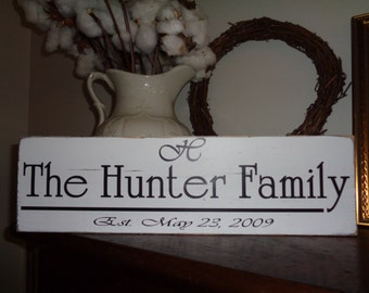 Family Name Sign, Customized Signs, Rustic Signs