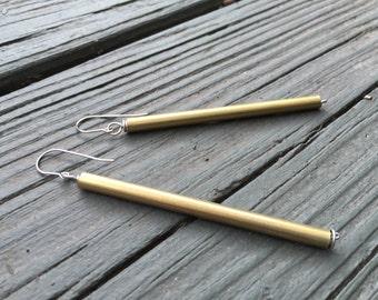 Simple Brass Dangle Earrings
