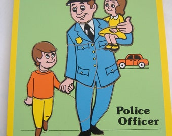 Police Officer Wood Puzzle by Connor Toy, 1979