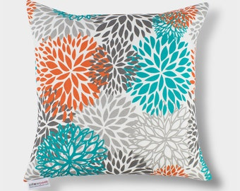 Outdoor Pacific Floral Blooms Pillow Cover - 16 inch