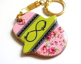 Best friends Hamsa keychain, Hand of fatima key chain, Personalized gift, handbag charms , evil eye key chain, hamsa bag charm, Infinity