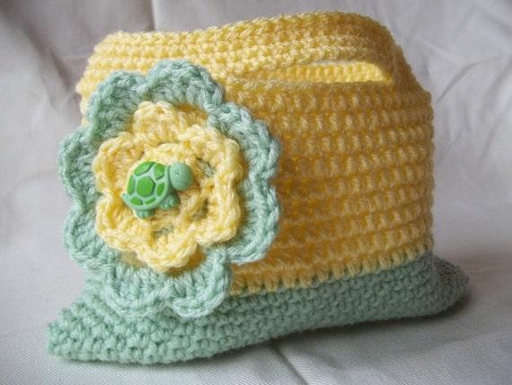 Crochet Purse For Girls : Girls Flower Purse, Childs Crochet Purse, Flower and Turtle Purse ...