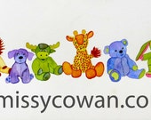 NURSERY PALS: Giclee Print of Watercolor Painting