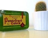Dunhills Original Licorice Pontefract Cakes Green Tin with Lid