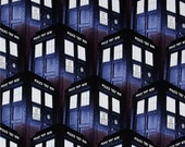 Dr. Who Tardis Fabric Covered Photo Memory Board