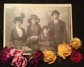 Cabinet Card Photo  - Family - Man - Woman - Girls - Unusual - W. Leary-Glasses