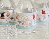 Mermaid Water Bottle Labels by Loralee Lewis