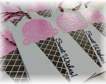 Sweet Wishes Tags - Ice Cream Cone Gift Tags (8)