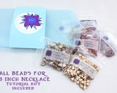 Silky Kheop Tesselations Collar Necklace Bead Kit, Silky Beads, Kheops Par Puca, O beads, Swarovski Crystals, Seed Beads