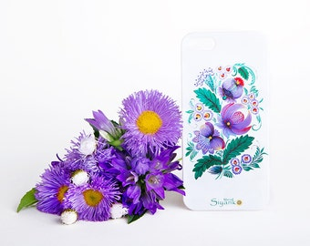 Purple Flowers iPhone Floral Case - iPhone 6 / 6 Plus Case - iPhone 5 / 5S Case - iPhone 4 Case - HTC - Samsung - Lenovo - Sony - Nokia