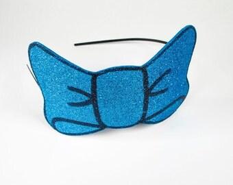glitter bow headband // multi color