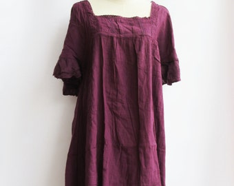 D24, Purple Butterfly Effect Cotton Dress