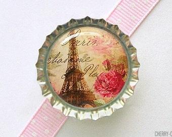 Eiffel Tower Bottle Cap Magnet, kitchen organization, paris theme party favors, paris magnets, paris decor, eiffel tower decor, french decor