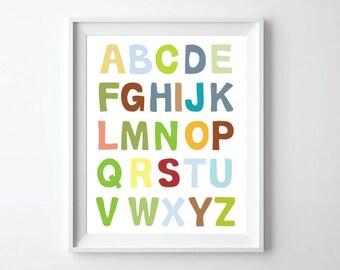 ABC Alphabet Poster print 11X14