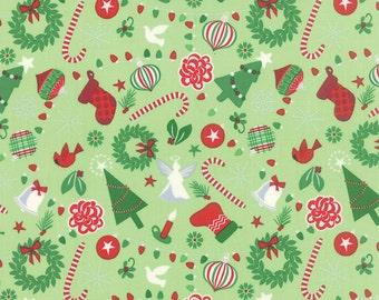 Jingle - Rejoice in Cedar by Kate Spain for Moda Fabrics - Last Yard