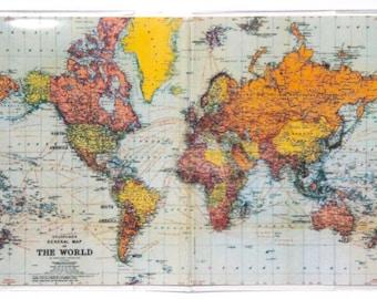 PASSPORT COVER - Stanford's Map of the World. Passport Holder, Passport Case, Travel Wallet, Vintage Map, Travel Gift Idea, Wedding Gift