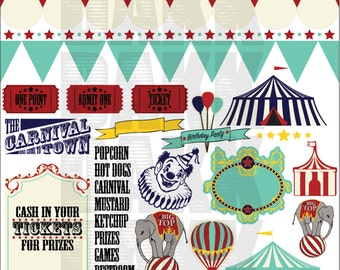 Circus Town SVG and PNG Files