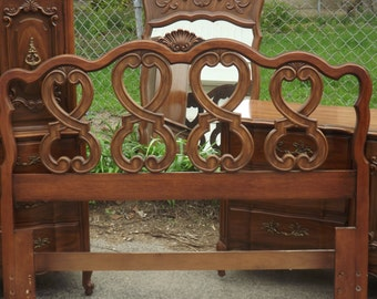 Vintage French Provincial Headboard, Full Size