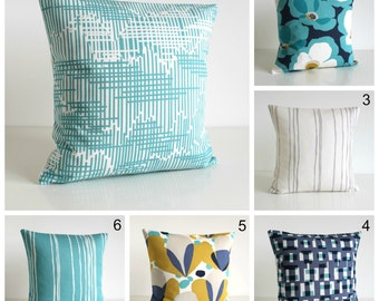 Pillow Cover, Decorative Pillow, Pillow Cover, Throw Pillow, Cushion Cover, Pillow Case, Sofa Pillow - Ocean Green Collection