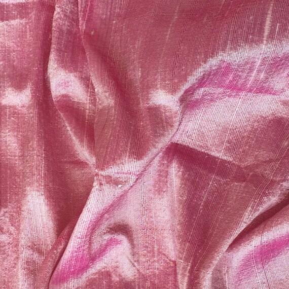WHOLESALE OFFER 17% OFF - 10 Yards Light Pink 100 Percent Pure Silk Dupioni Fabric