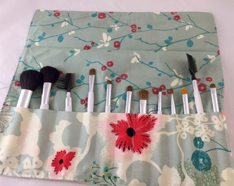MakeUp Brush Holder - Makeup Brush Roll Makeup Brush Organizer - Makeup Brush Bag - Makeup Brush Case Art Gallery Rapture Dreamscape in Moon