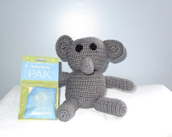 Elephant Stuffed Animal, Crochet, Baby, Gray, Toy, Baby Shower Gift