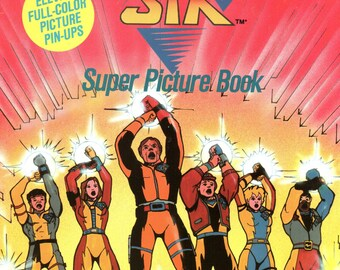 Eighties 1980's 80's Bionic Six Super Paperback Picture Book Animation Comic Con Cartoon New Rare Sci Fi Science Fiction