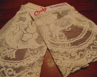 Craft Fabric, Child's Theme, Cotton Lace Pieces