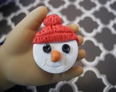2 Large Snowman Cookies for 18 inch Dolls and their American Girls- Play-Collectable-Display-Photo Props
