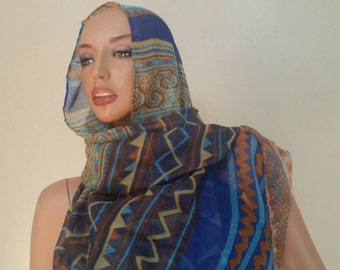 Cotton linen scarf or shawl.