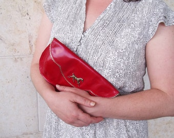 The perfect Valentine's gift, Women's red purse, women's wallet, red handbag, horse purse
