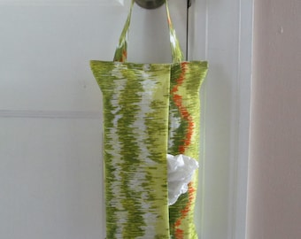Hanging Tissue Box Cover For Skinny Kleenex/Theory Primal Sound Forest