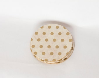 Golden Dots Coasters