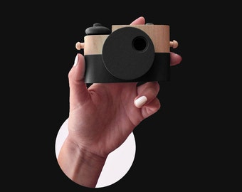 Black Pixie - Wooden Toy Camera