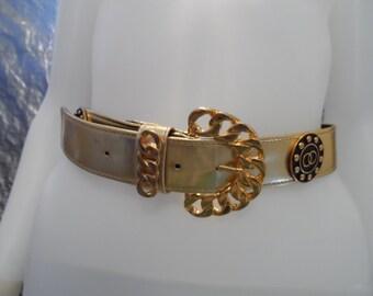 Vintage Gold 80's Belt S/M